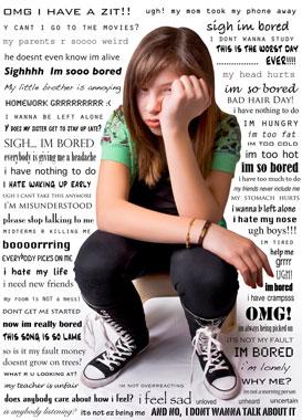 image of grumpy teenager